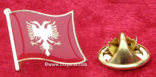 Albania Albanian Country Flag - Lapel - Hat - Cap - Tie Pin Badge - Brand New